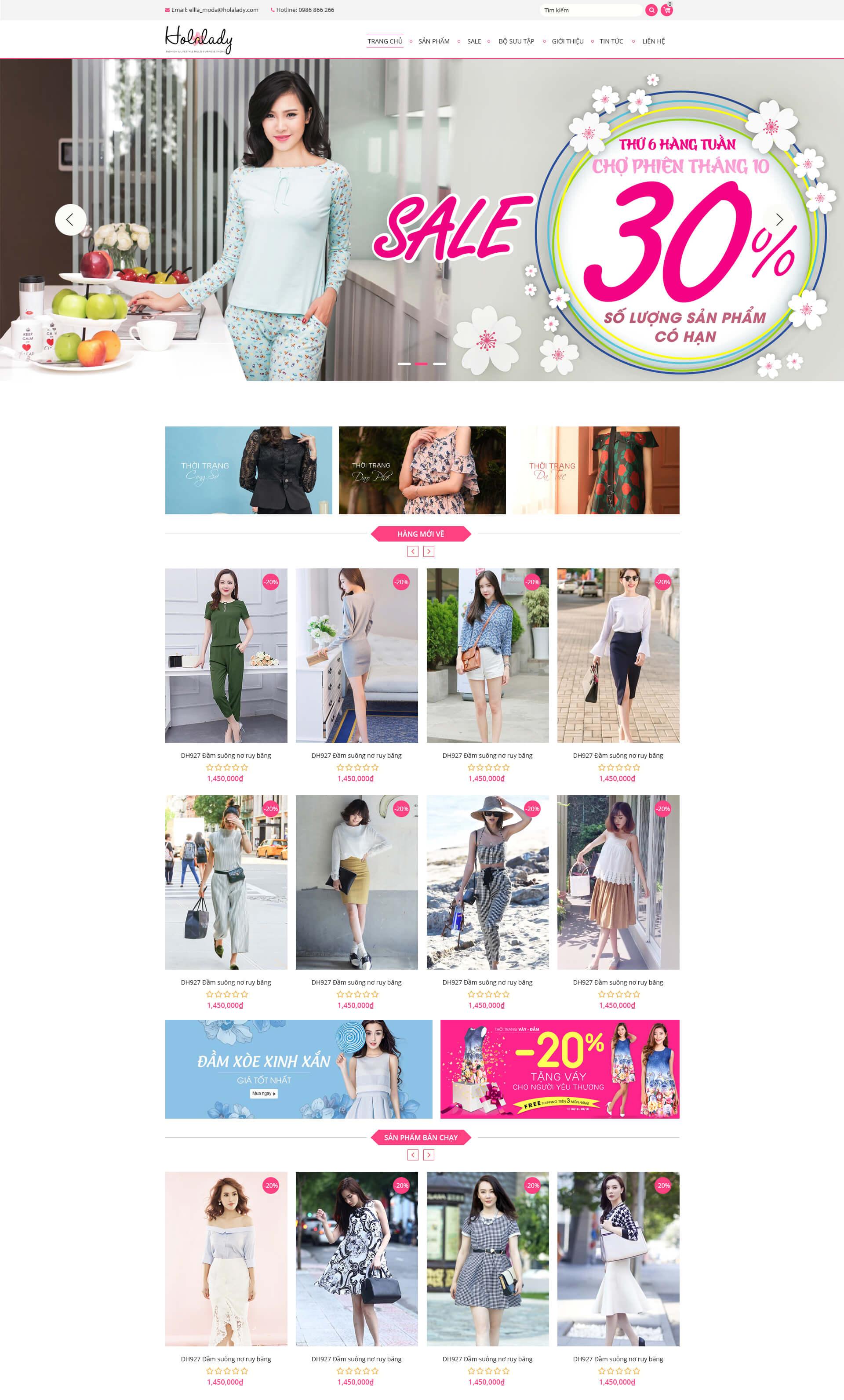 Web thời trang 02