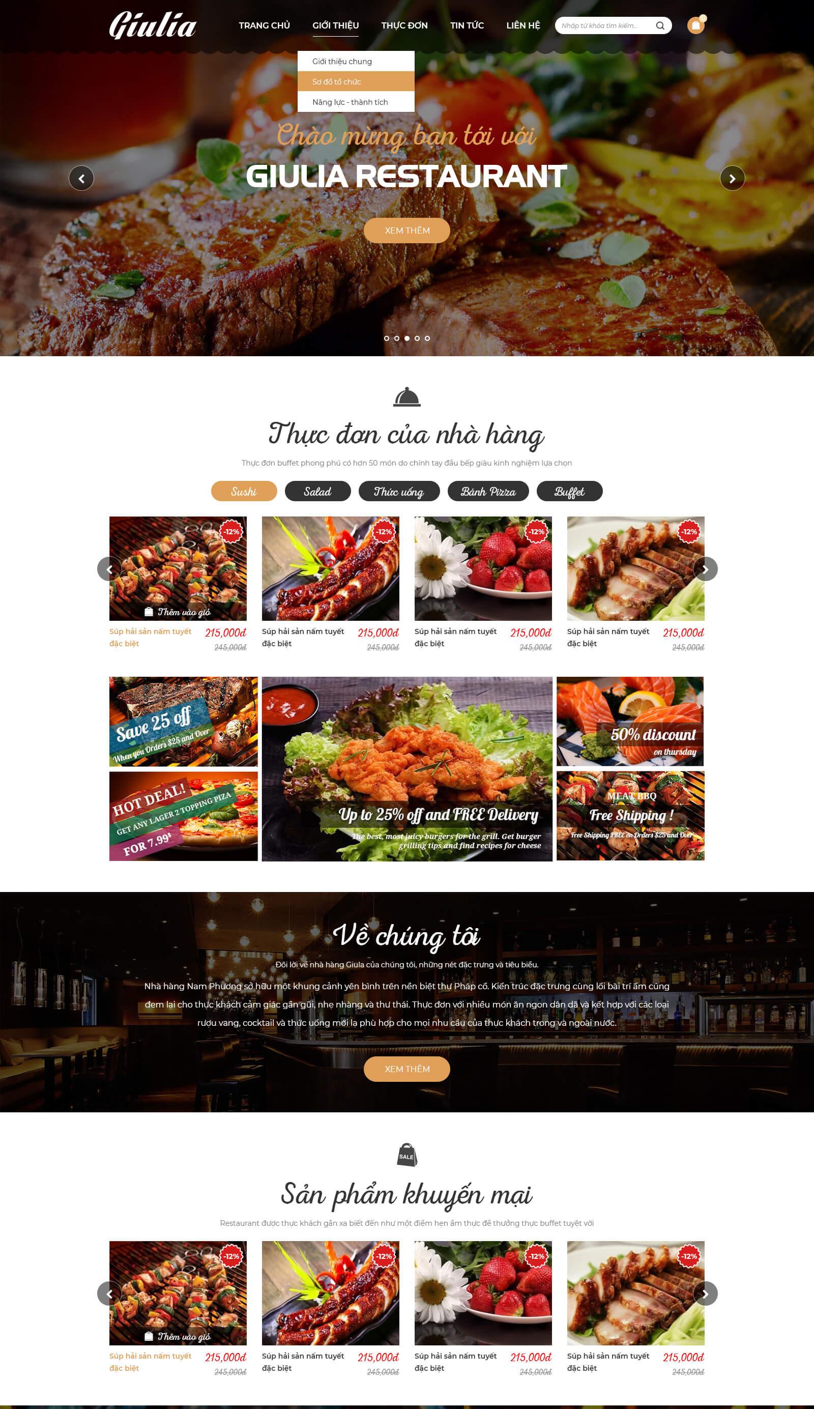 Web bán ẩm thực