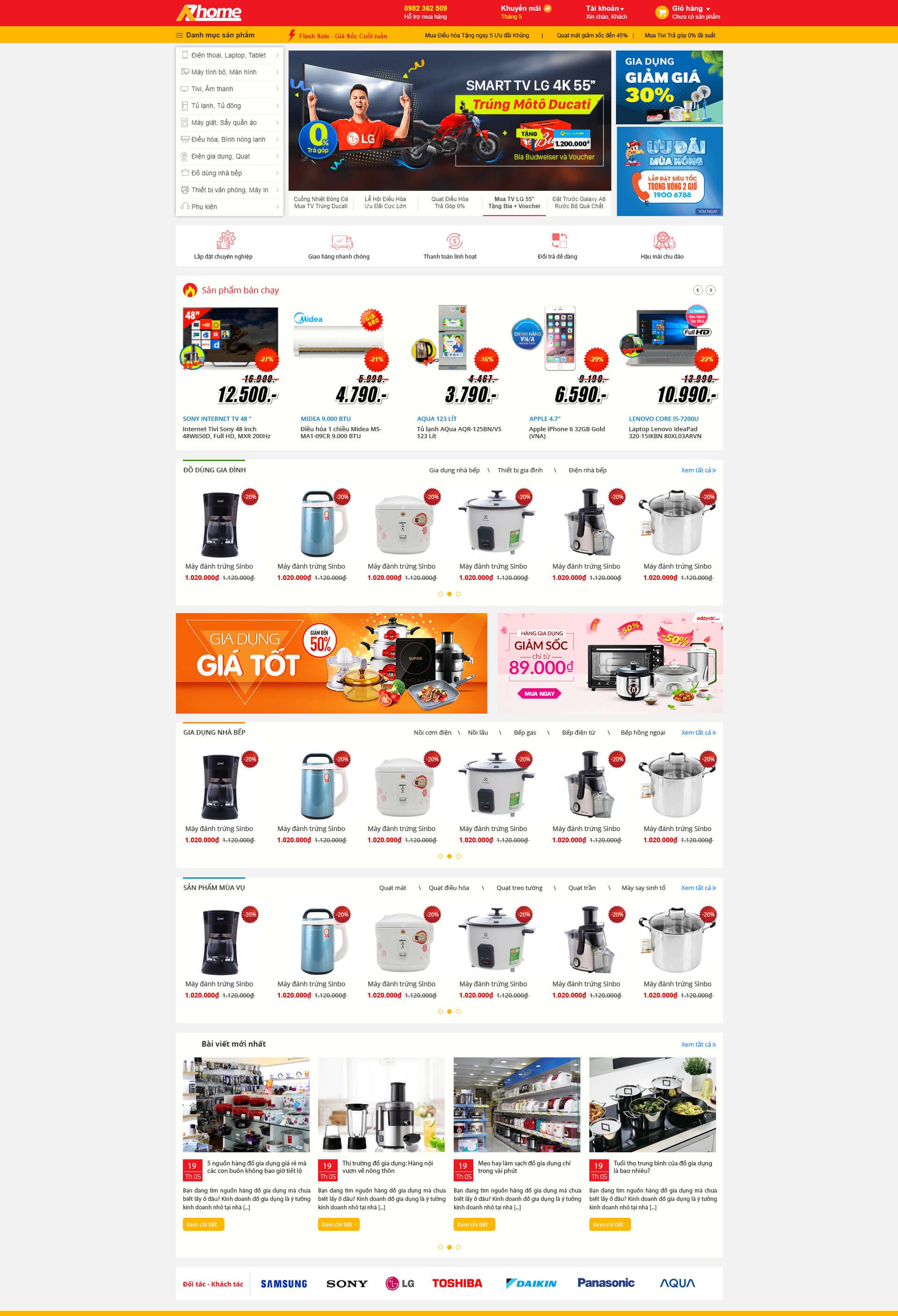 Web bán hàng gia dụng