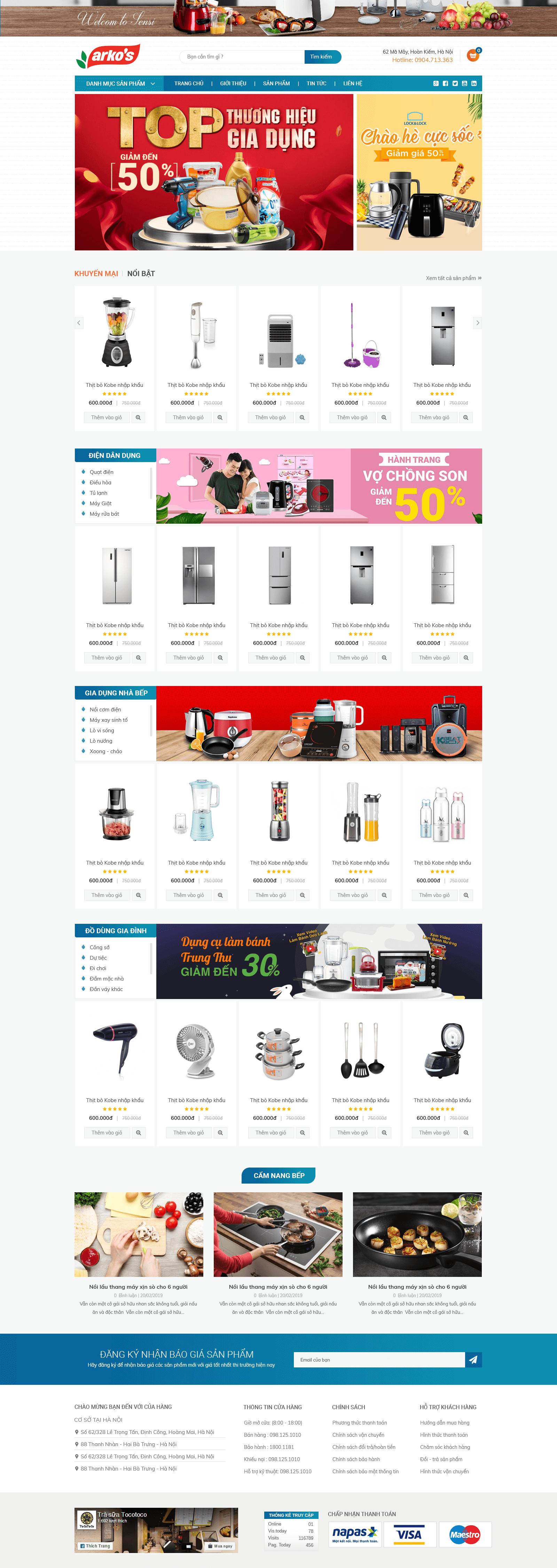 website Điện Máy Gia Dụng RT