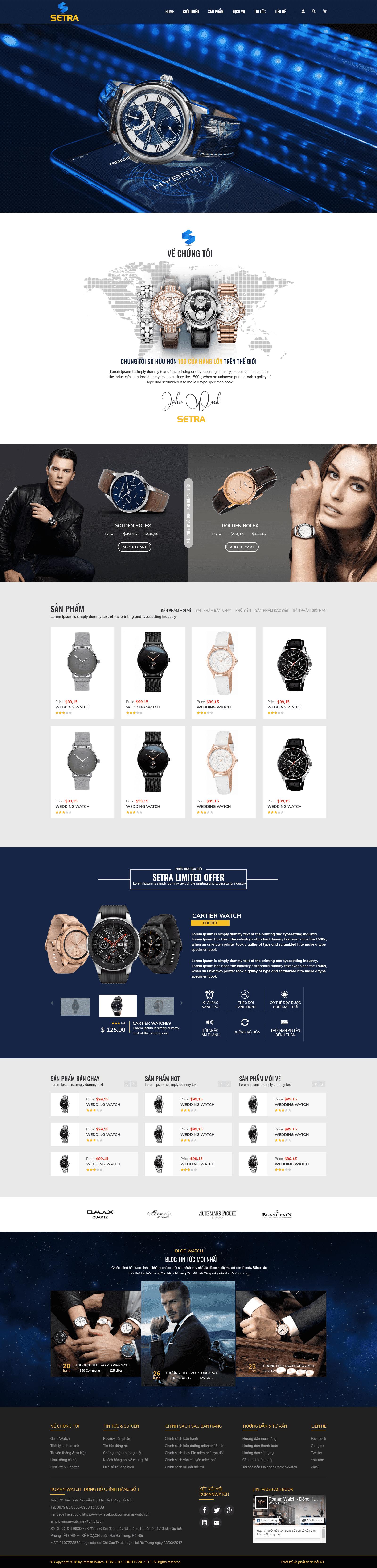 Website Đồng hồ RT