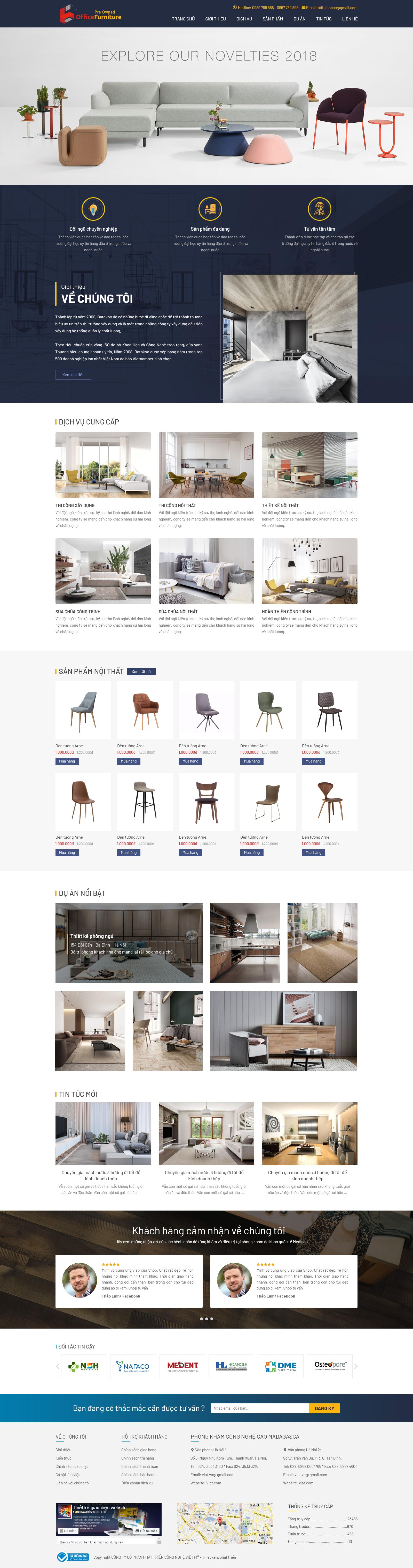 Website bán – thi công nội thất