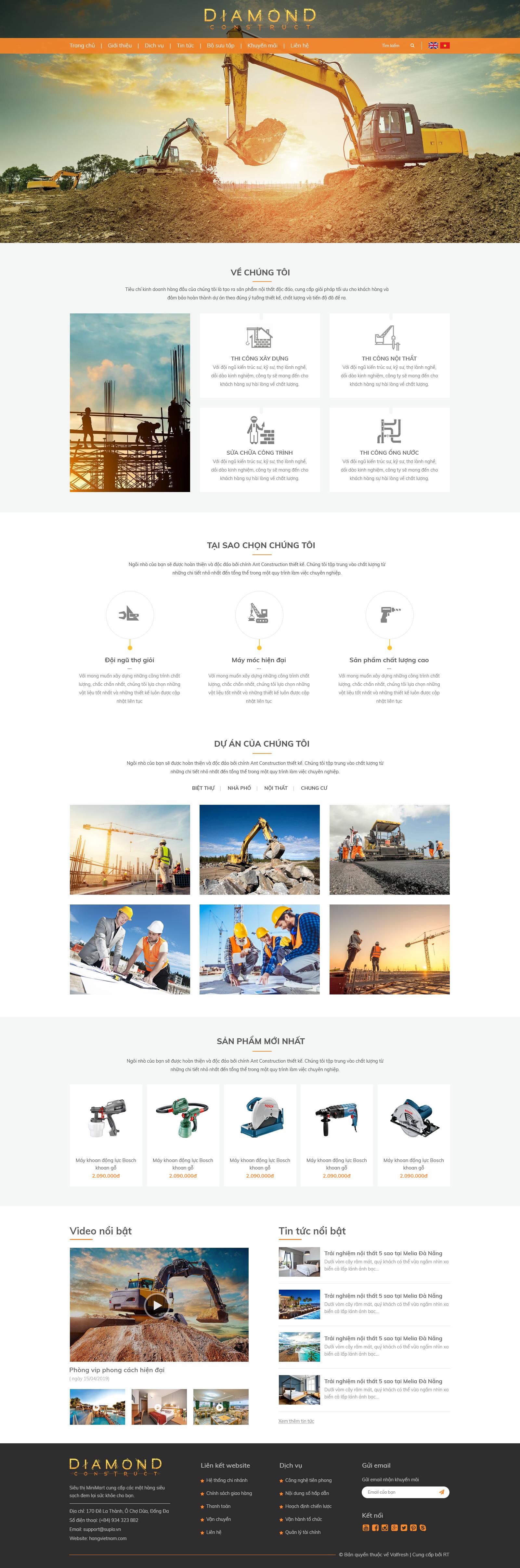 Web dịch vụ xây dựng RT