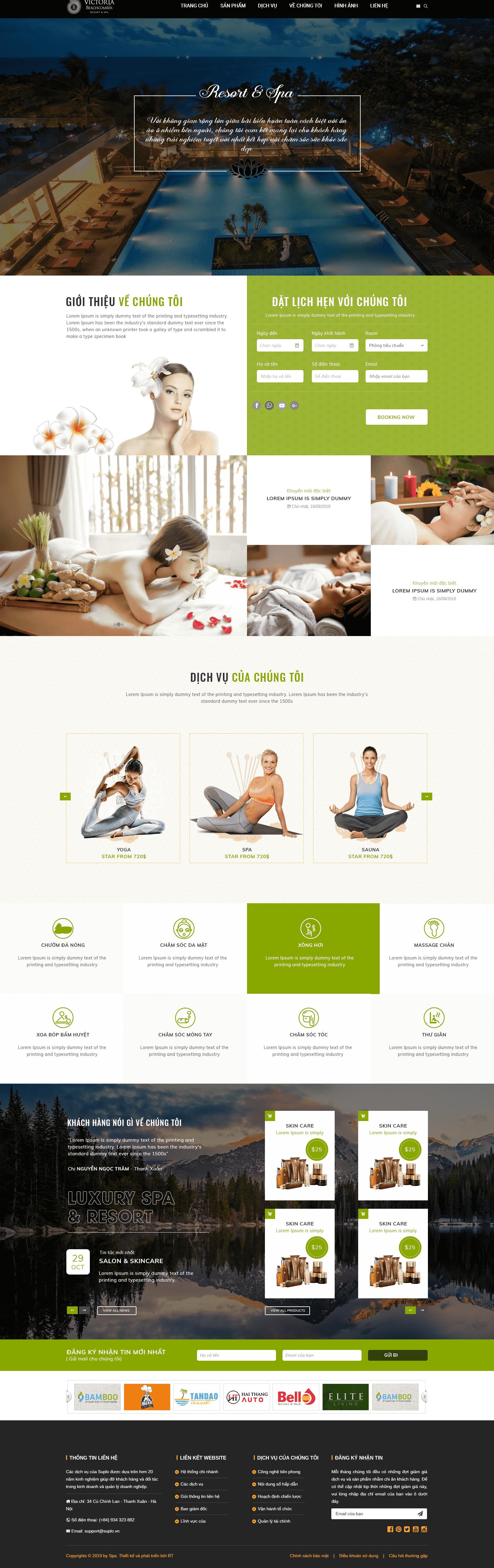 Website Spa-resort
