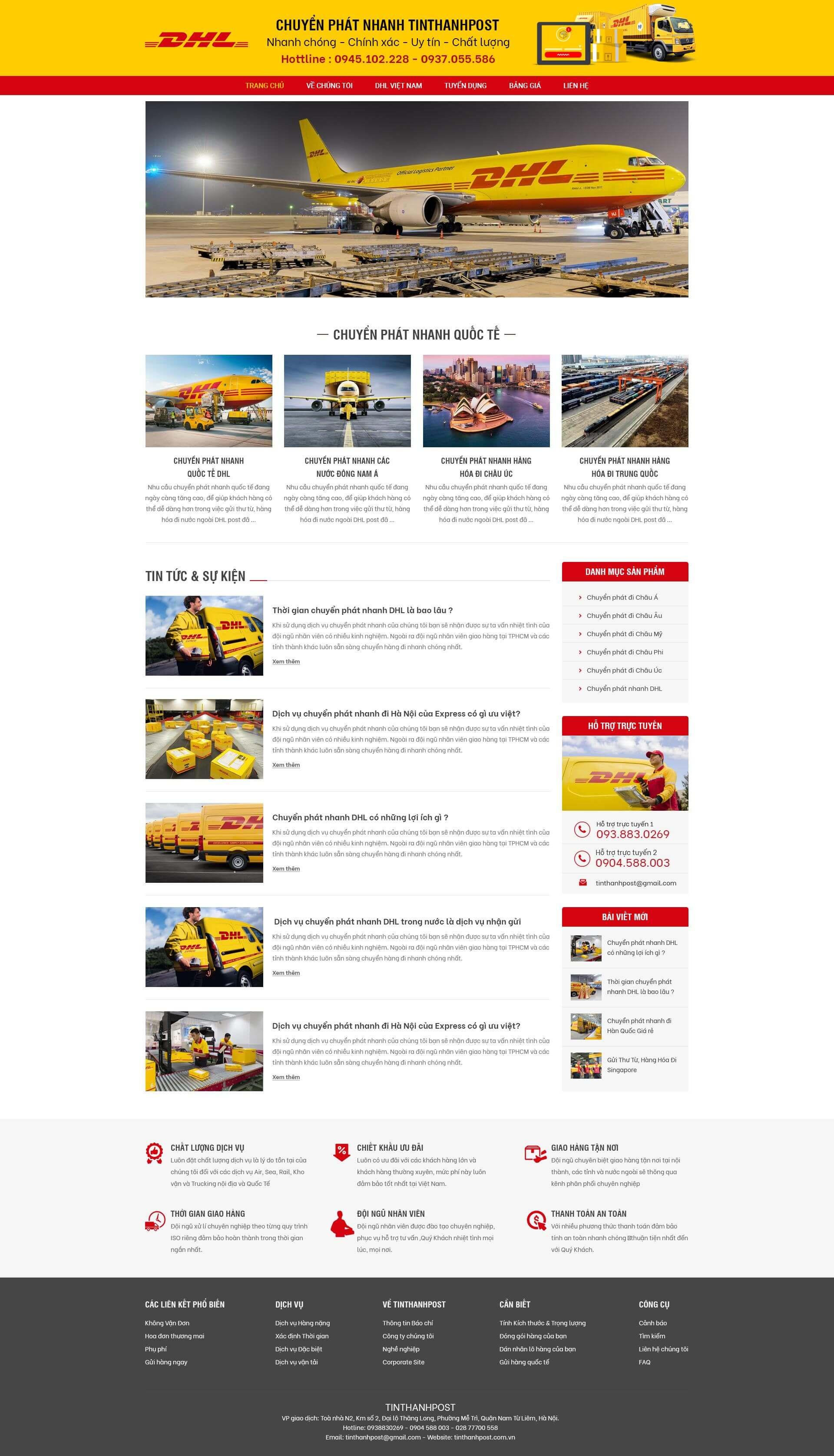 Mẫu web Dịch vụ và vận tải