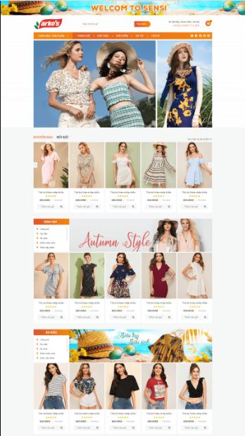 Website Thời trang3RT
