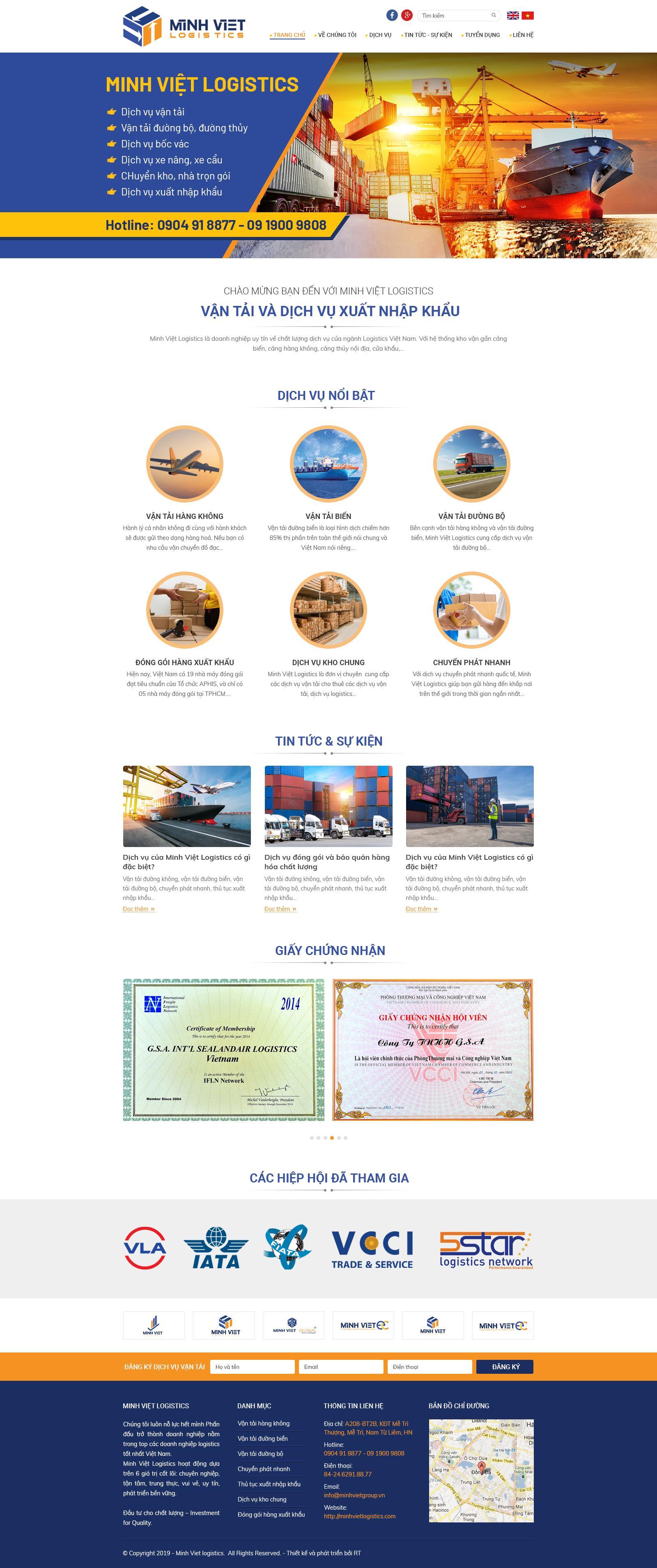 Web dịch vụ và tận tải Minh Việt