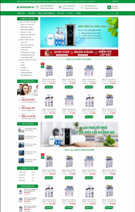 Mẫu web máy locnuocvina