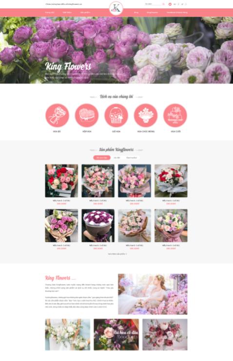 Mẫu web bán hàng về hoa