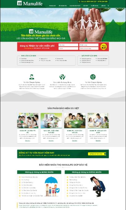 Mẫu web bảo hiểm