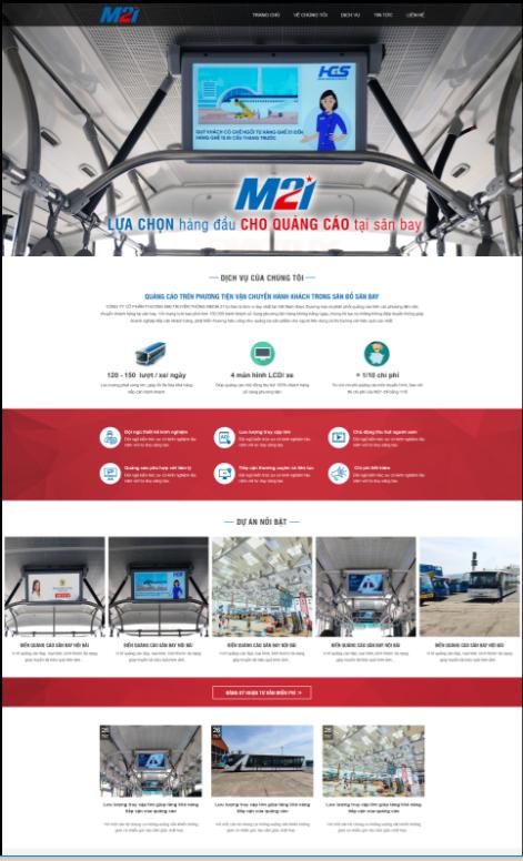 Mẫu web dịch vụ – truyền thông
