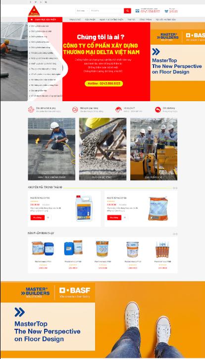Mẫu web Xây dựng RT
