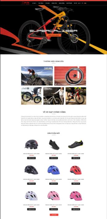 Mẫu web xe đạp RT