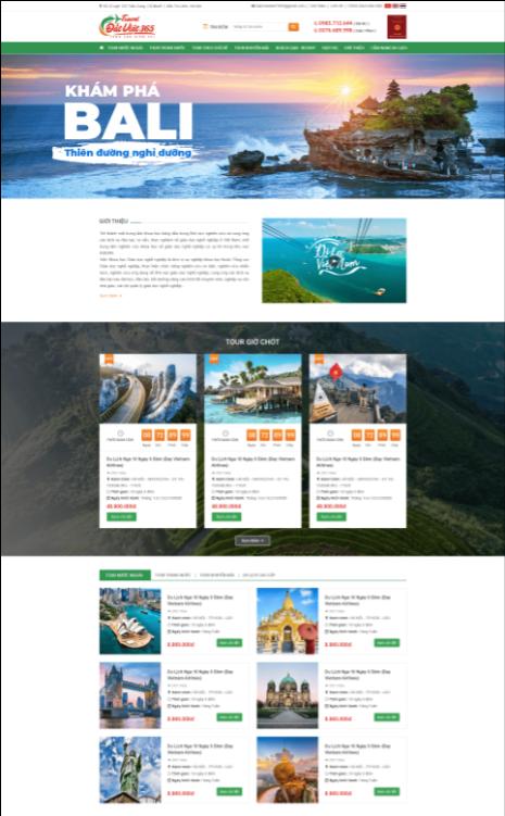 Mẫu web du lịch RT