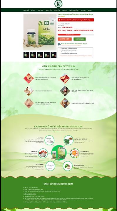 Mẫu web thực phẩm chức năng RT