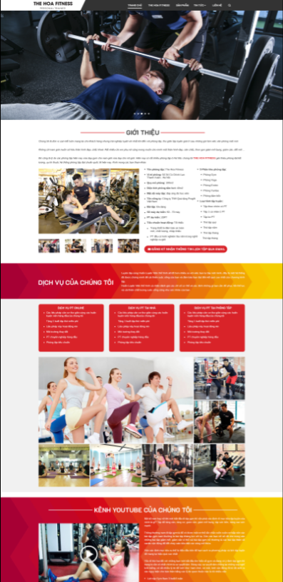 Mẫu Web Gyms Fitness RT