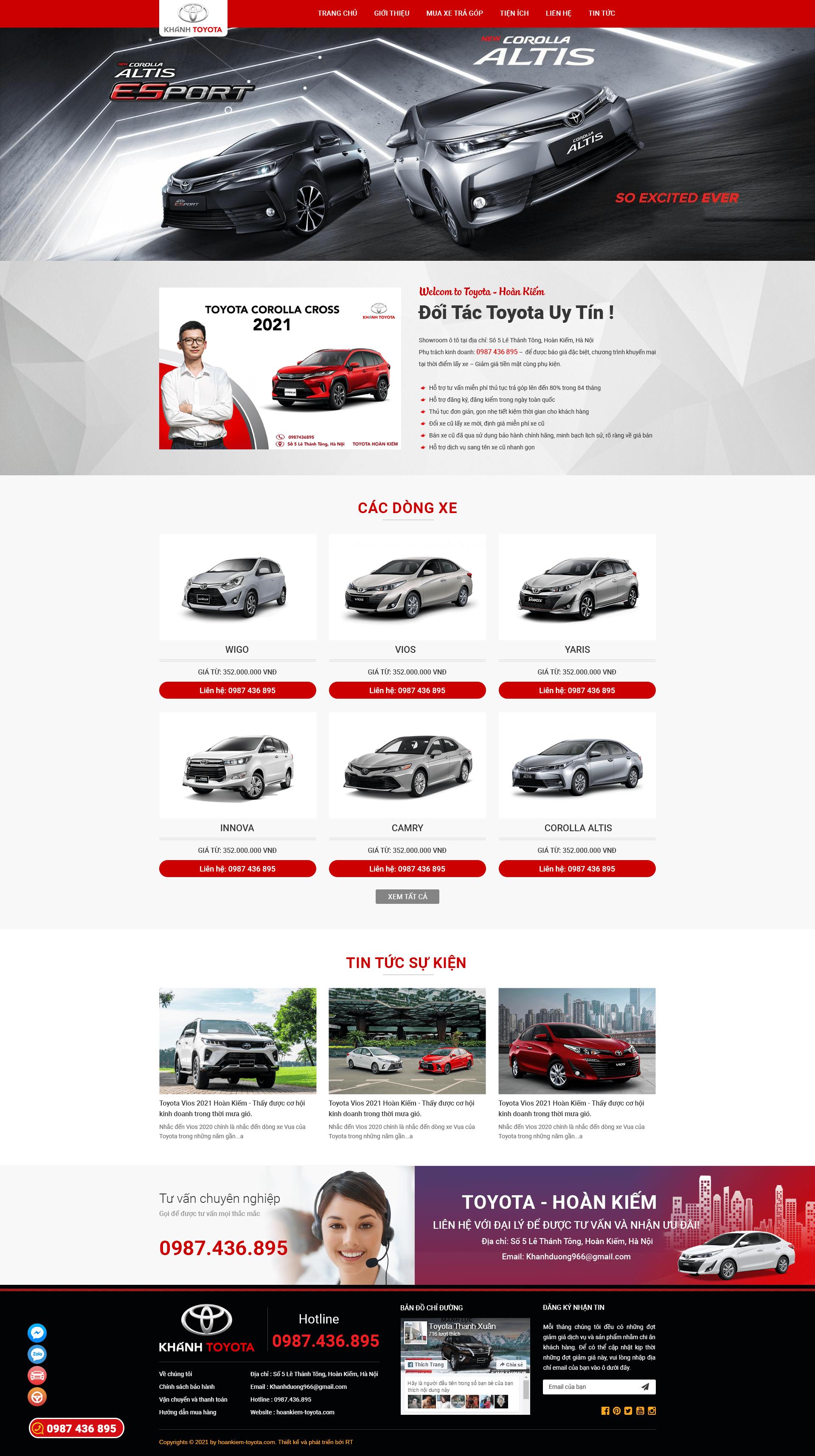Mẫu web  oto RT