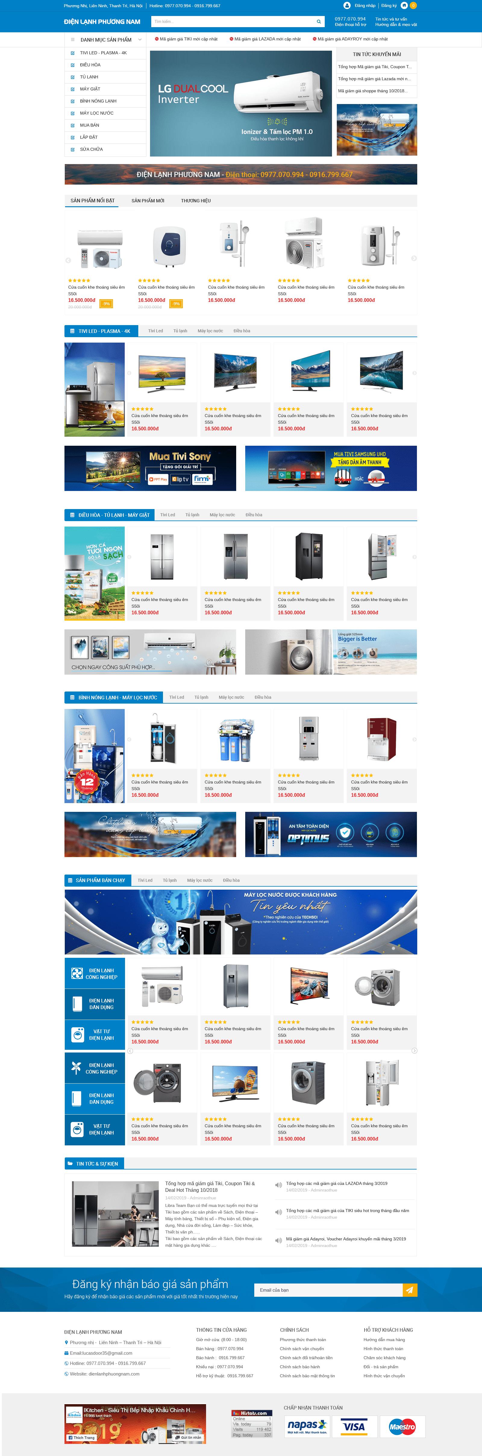 Web bán hàng điện lạnh RT